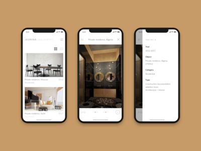 Website for architecture studio