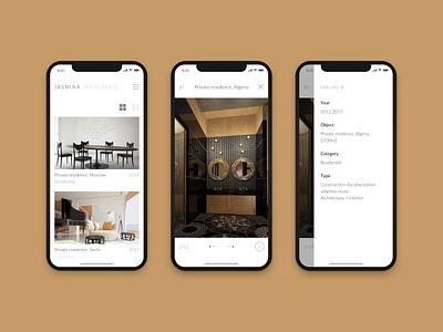 Website for architecture studio architecture visualization ux white mobile responsive studio architecture minimal site website