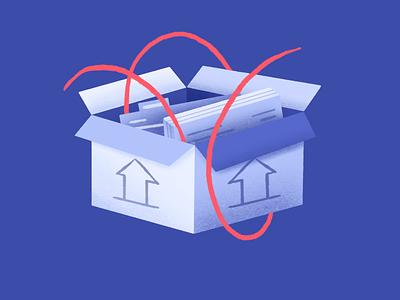 Upload feature icon segments drawing file manager box storage files upload ui procreate design features marketing cdp platform website web illustration