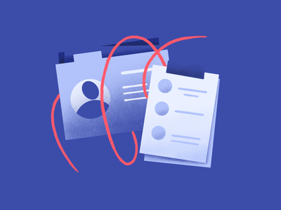 Profiles Collection feature data customer platform collect list person contact profile ui marketing icon illustration website feature procreate drawing design cdp