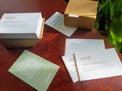 Edulift Consulting business cards consulting edtech business cards