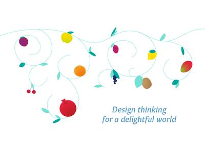 Personal business card fruit illustration design fruits fruit business card