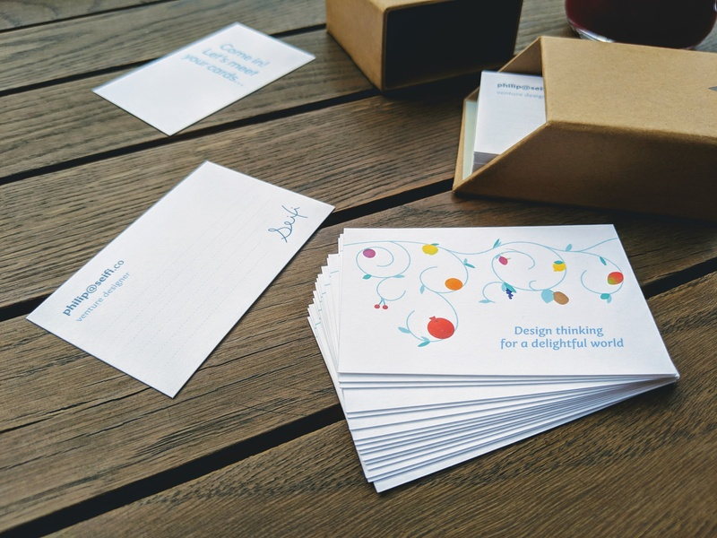 Fill-in-the-blank name cards signature fruits name card business card