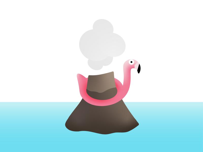 Peak Instagram, Bali pool instagram vector sea bali volcano flamingo inflatable