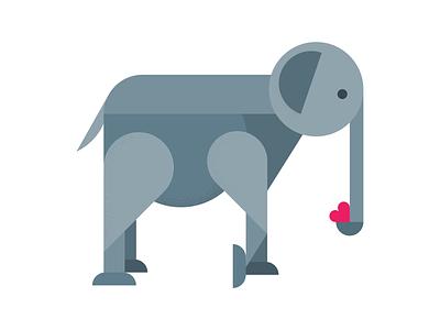 Geometric elephant geometric animal vector elephant