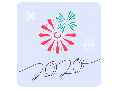 Pona New Year's card instagram card fireworks new year