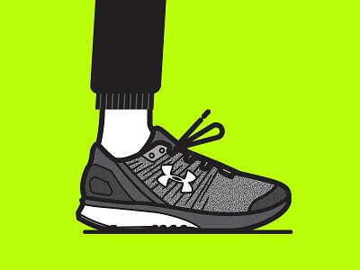 UA BANDIT 2 vector illustration sneaker underarmour