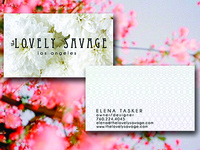 The Lovely Savage Business Cards