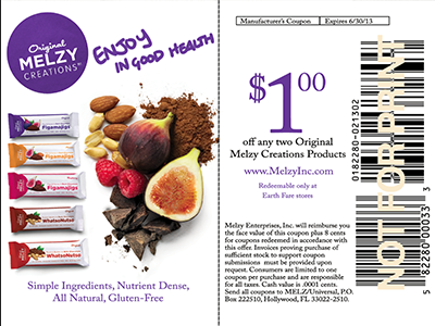 Melzy Coupon coupon design healthy snacks