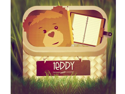 My Teddy App Design application teddy chalkboard basket