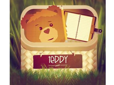 My Teddy App Design application teddy chalkboard basket