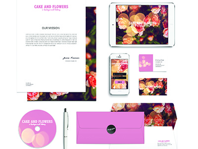 Cake & Flowers floral pink thinkpink