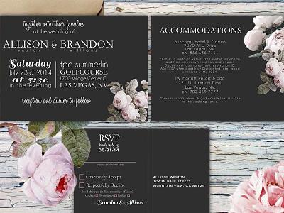Floral wedding invitations flowers wedding invitations vintage