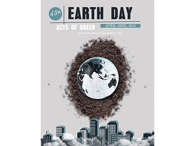 Earth Day Poster earth day poster illustration