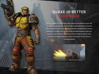 """Quake['s site] is better than ever!"""