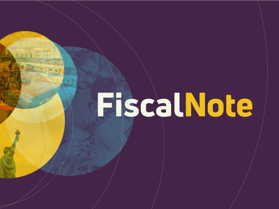 FiscalNote logo: don't fear the purple logotype logo