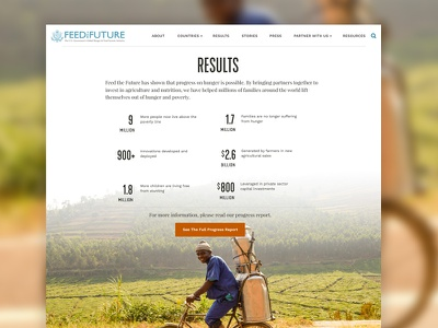 feed the future - results nonprofit storytelling ui