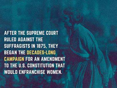 decades. DECADES. suffragists