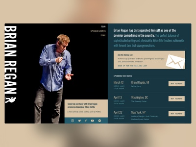 don't know how to use the 'you too' phrase brian regan website ui design