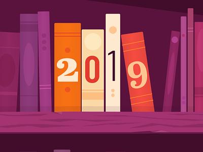2019 Reading bookshelf reading 2019 books illustration