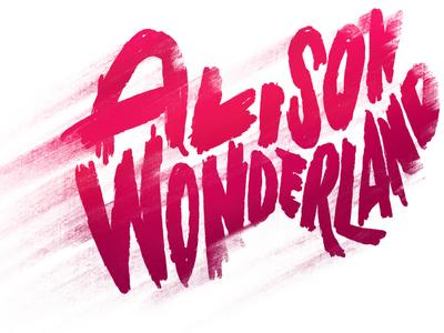 Alison Wonderland red typo type typografi music art music alison wonderland texture logo branding design typography