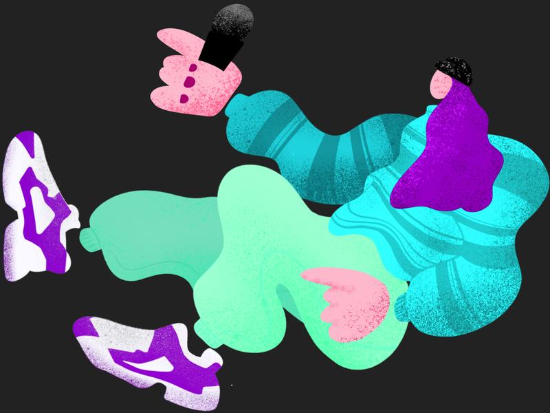 Jazz Club branding web character blue texture music illustration vector ui design