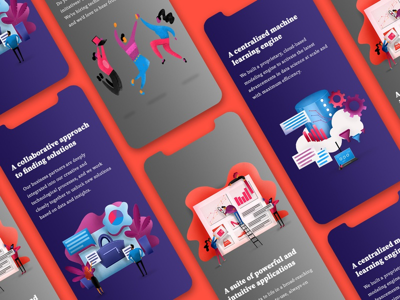 Illustrations for Tapestry flat character ux illustration mobile ui design mobile design app design mobile fashion tapestry app web branding design graphic ui web  design graphic  design illustrations