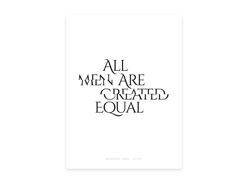 All Are Equal minimalist humanrights equality america white branding design typogaphy posters poster art poster design minimal poster
