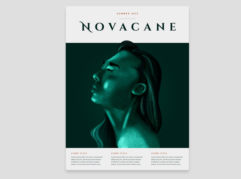 Novacane Magazine procreate portrait art poster design magazine portrait texture branding typography illustration design poster