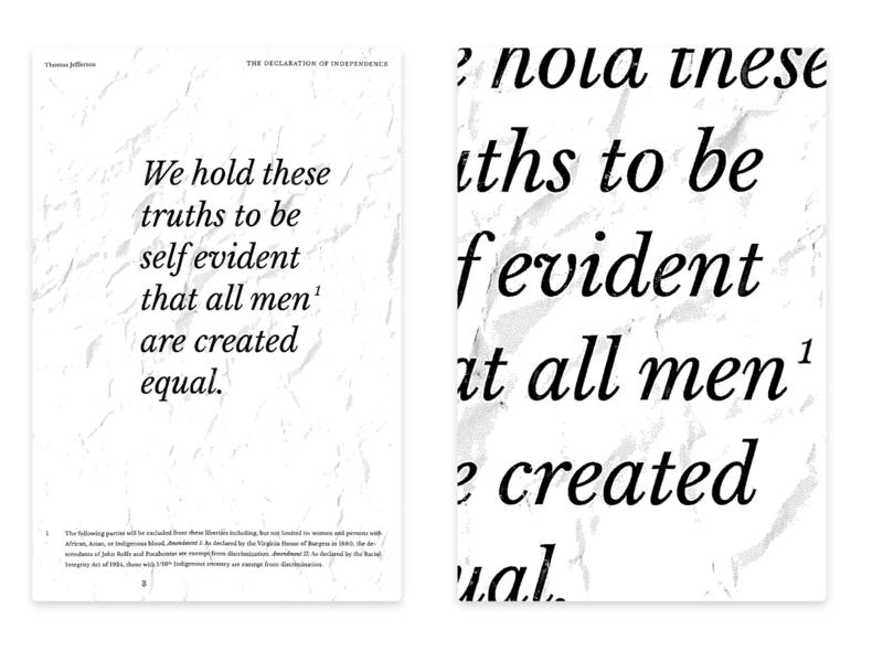 Footnote typography design america italic baskerville crumpled ui poster design design typography poster