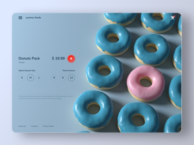 Product Page product clean typography site ux landing design web ui