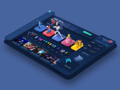 Game Streaming Platform Interface webdesign web ux ui ux design ux ui game ui design ui streaming service stream interface gaming website gaming dashboard design