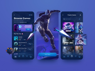 Game Store & Streaming App app design mobile app mobile ui mobile app design mobile design game design games gamer app design mobile streamer game store gaming