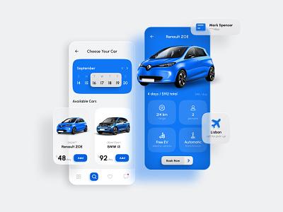 Car Rental App Design design user interface app design mobile ui mobile application sharing app rental mobile ui ux app ios user experience car rental car