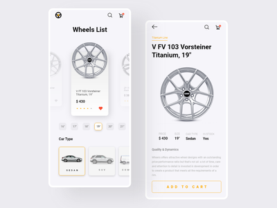Wheel Shop App wheel tyre shop ui sale product mobile ui mobile design mobile app design mobile app l mobile materia design interface application ui application app design