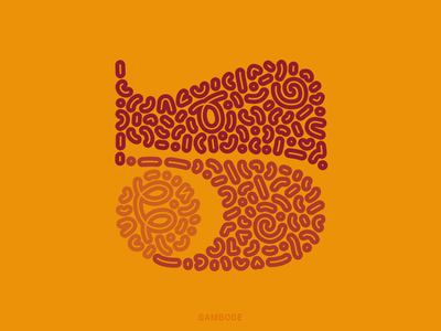 5 letter digital illustration 36daysoftype2021 36daysoftype vector illustration orange yellow resin