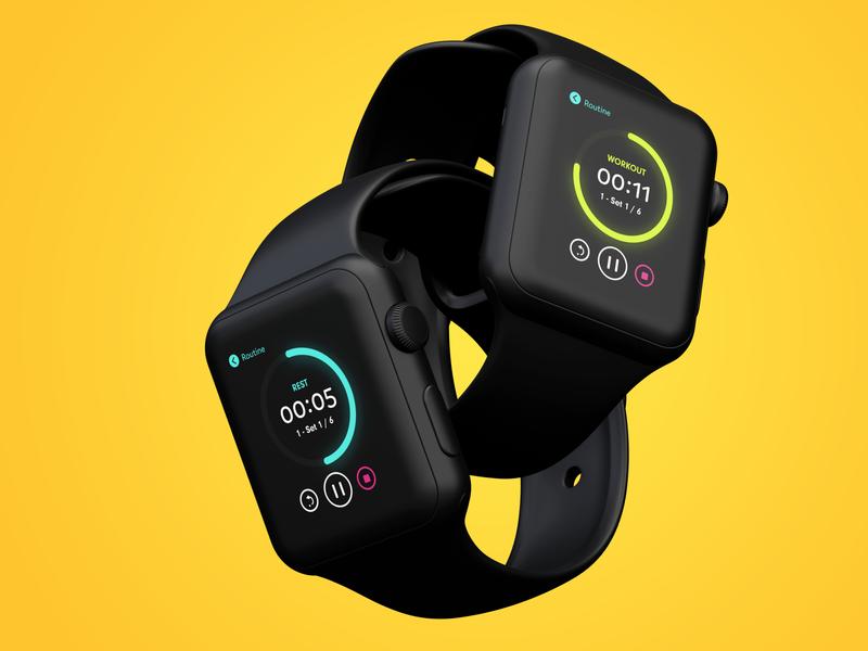 HIIT Timer Apple Watch App fitness apple watch ui design app