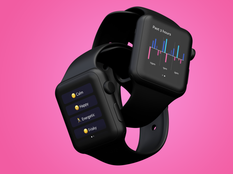 Mood Tracker Apple Watch App mental health apple watch ui design app