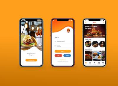 Foodies Restaurant Apps UI Design
