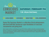 Queen City Conscious Market Flyer