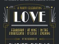 Gatsby Valentines Party Invite