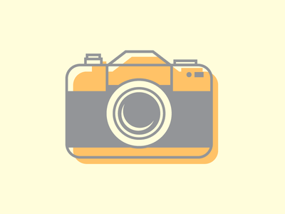Say Cheese Again illustration vector icon iconography camera geometric minimal lineart