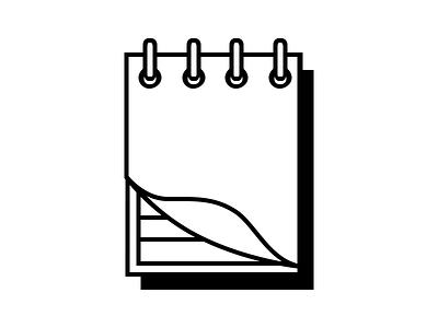 Notepad notepad note icon minimal line art illustration