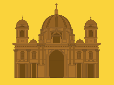 Berlin Cathedral berlin germany illustration vector berlin cathedral flat architecture building church