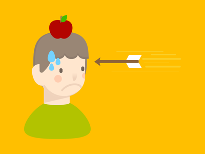 An Apple A Day character illustration boy apple cartoon colorful cute