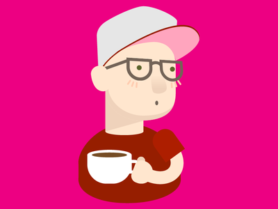 Coffee and Perks character illustration cartoon colorful boy man coffee
