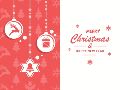 Christmas Decoration Depends On The Background   Vector Illustra