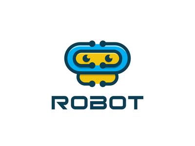 Robot Vector Mascot Logo Design