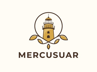 Mercusuar Logo Design Vector Template