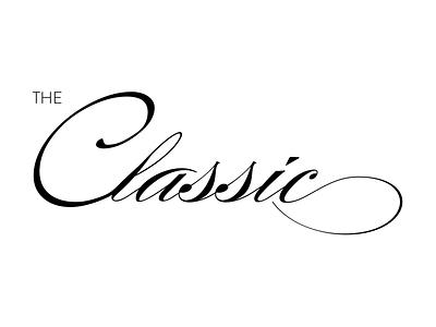 The Classic Script identity logo-mark logo branding brand identity